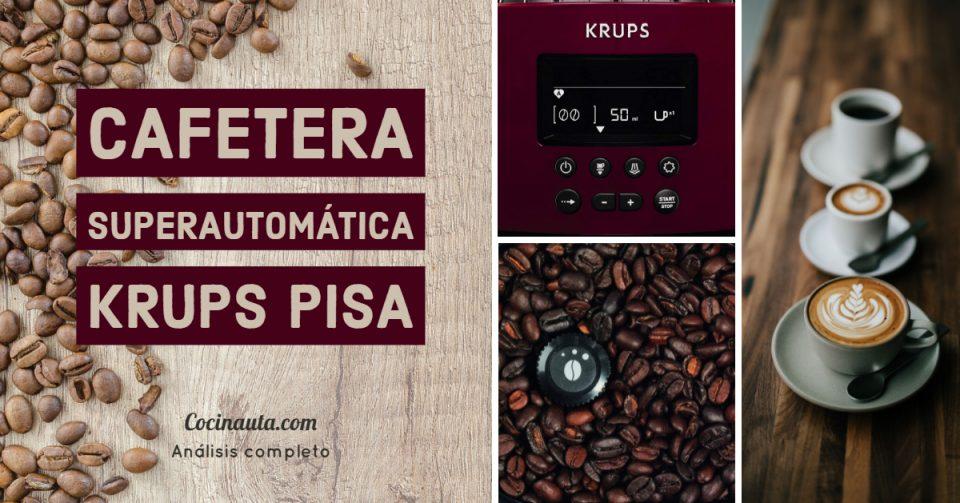 La cafetera Superautomática Krups Pisa EA8165 es la mejor cafetera espresso de 2020
