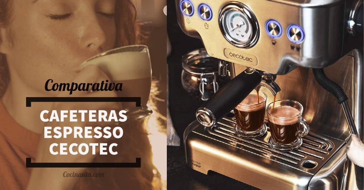 Comparativa de las 4 mejores cafeteras Espresso de Cecotec