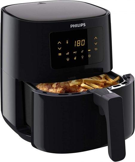 Philips Essential Airfryer HD9252/90 - Freidora de aire caliente original (1400 W, para 2-3 personas, 800 g/4,1 l, pantalla digital), color negro