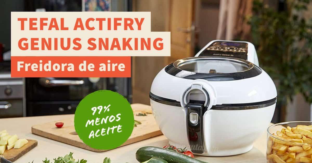 Tefal Actifry Genius Snaking, la freidora de aire con pala automática que no se pega