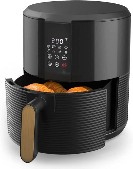Freidora de Aire 3L - Freidoras sin Aceite con 8 Programas, Pantalla LED Táctil, Sin PFOA, Air Fryer 1300W, Temporizador y Temperatura Ajustable [Clase de eficiencia energética A+++]