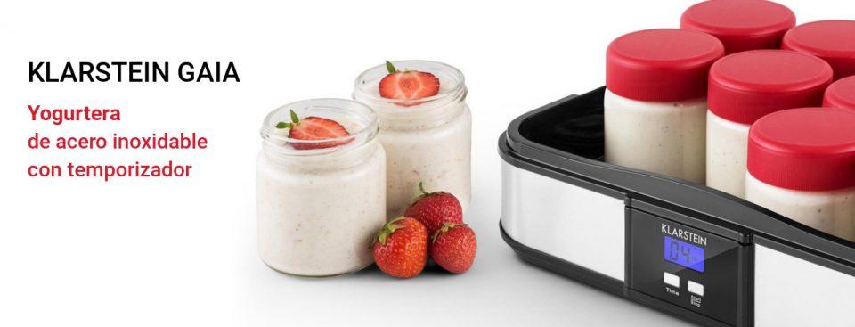 La yogurtera Klarstein Gaia es la mejor para hacer postres realmente sanos.